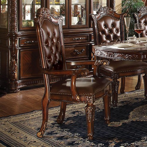 Acme Furniture Vendome Tufted Dining Armchair Set of 2 by Acme Furniture, Inc