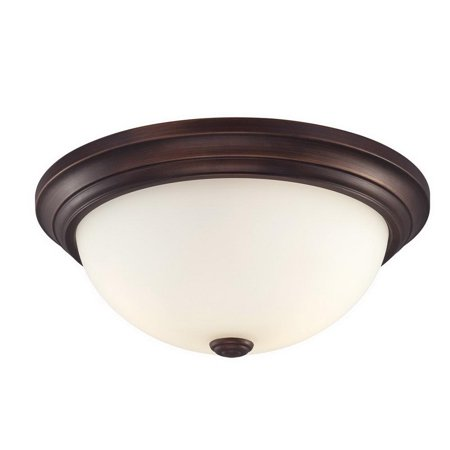 Millennium Lighting Traditional 5405 Ceiling/Flush Mount Fixture, Indoor/Outdoor, Rubbed Bronze Housing, 3 Lamps
