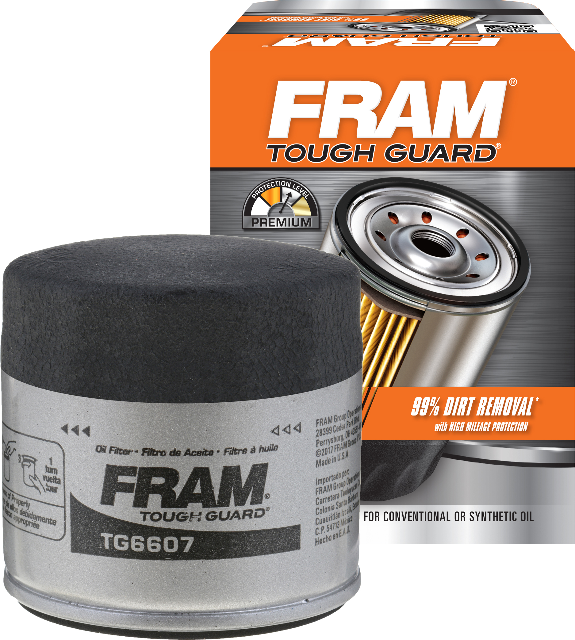 FRAM Tough Guard Oil Filter, TG6607