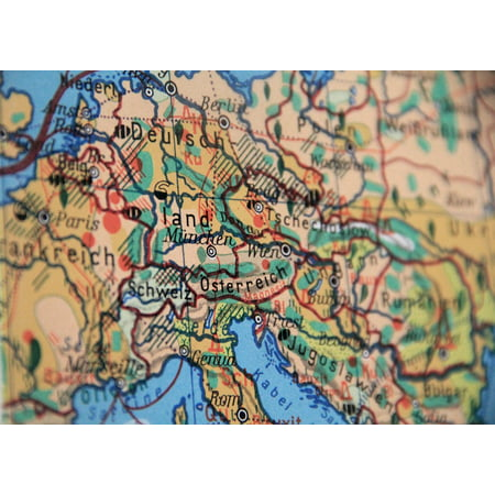 Map Of Germany To Print.Laminated Poster Borders Travel Geography Europe Map Land Germany Poster Print 11 X 17