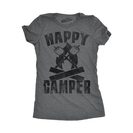 Womens Happy Camper Shirt Funny Camping Shirts Cool Vintage Tees Retro Design - Happy Nurses Day Funny