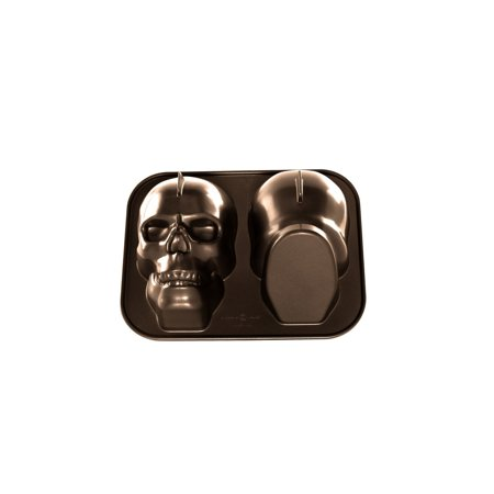 88448 Haunted Skull Pan, Bronze Gray Nordic Haunted right capacity the into Ware leaves fine 88448 Skull Cakelet 9 baked details cakes Pan cup By Nordic Ware Ship from US (Marijuana Leaf Cake Pan)