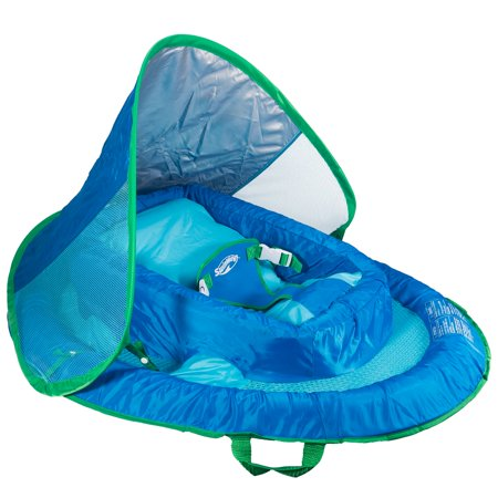 SwimWays Inflatable Infant Baby Spring Swimming Pool Float with Canopy,