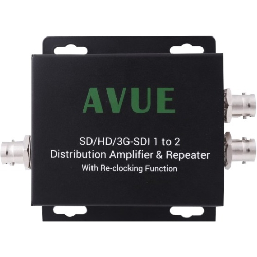 AVUE 3G-SDI/HD-SDI/SDI 1 to 2 Repeater & distribution extender with re-clocking function