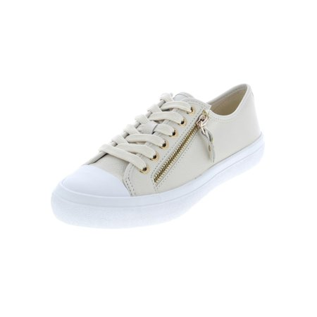 Coach Womens Empire Zipper Leather Low Top Fashion Sneakers ()
