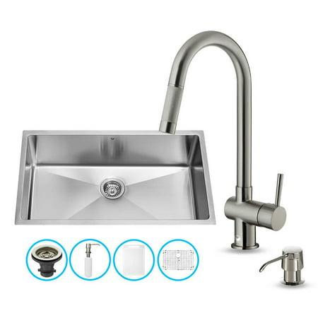 Stainless steel kitchen sink and faucet set - Walmart kitchen sinks ...