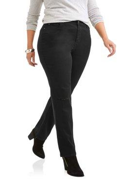 Women's Plus Mandie Jean With Knee Slits