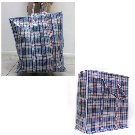 "2 Large Tote Storage Bag Shopping Groceries Laundry Organizing 20""x9"" Travel Buy"