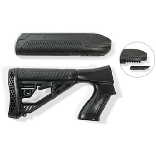 Adaptive EX Performance Stock Kit, Fits Remington 870 12 Gauge, Forend and M4 Style Stock, Black