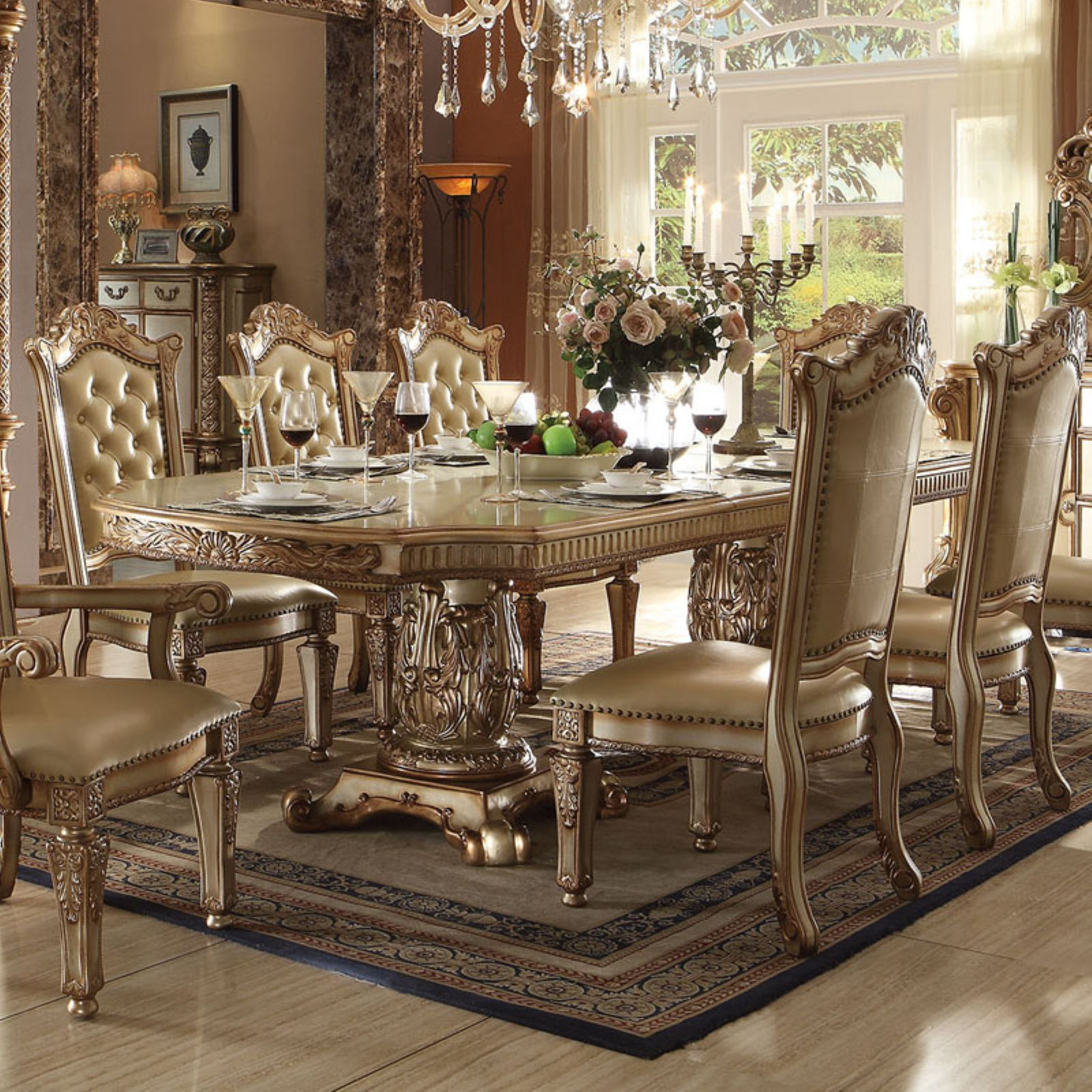 ACME Furniture Vendome Tufted Dining Side Chairs - Set of...