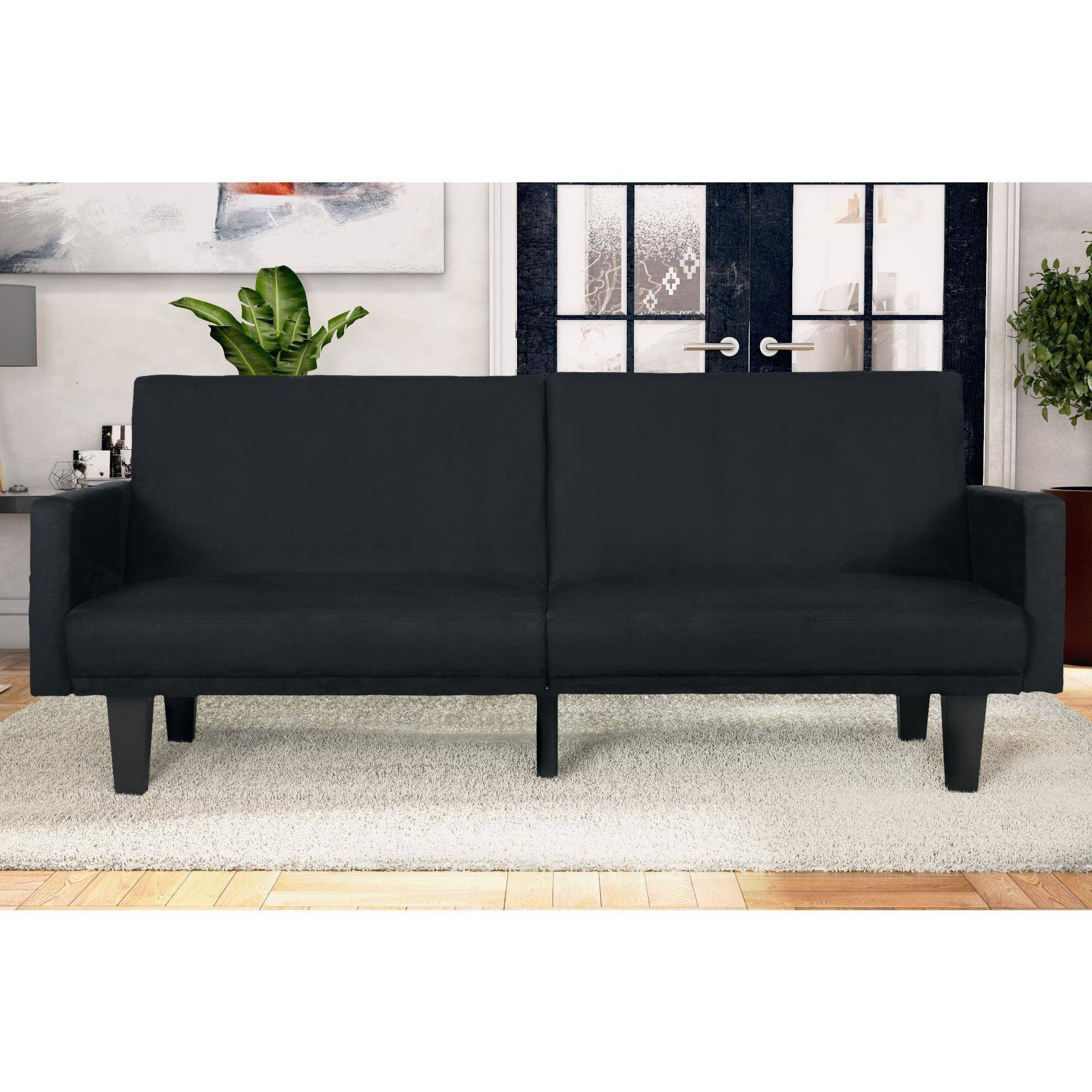 Dhp Metro Split Back Futon Couch With Pockets Multiple Colors