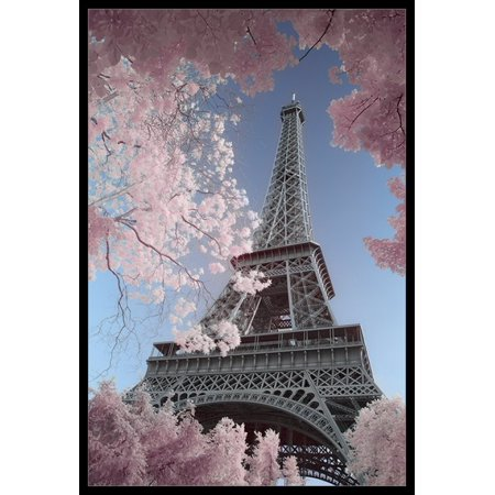 Eiffel Tower Infrared - Paris Poster Poster Print