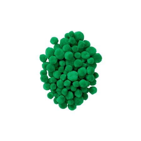 - Colorations Pom-Poms, Green - 100 Pieces (Item # POMGR)