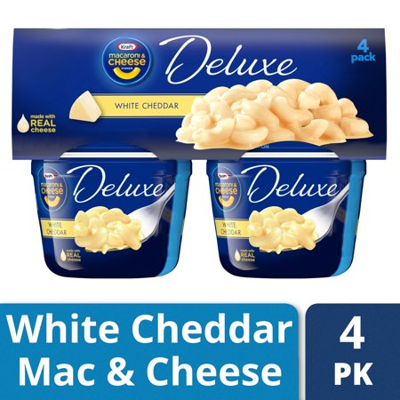 (2 Pack) Kraft Deluxe Macaroni & Cheese Cups White Cheddar, 4 â 2.39 oz