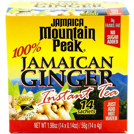 (3 Boxes) Mountain Peak 100% Jamaican Gigner Instant Tea, No Sugar, 0.14 Oz, 14 - Cuisine Tea