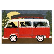 Liora Manne Frontporch 1474/24 Camping Trip Red Area Rug 24 Inches X 36 Inches