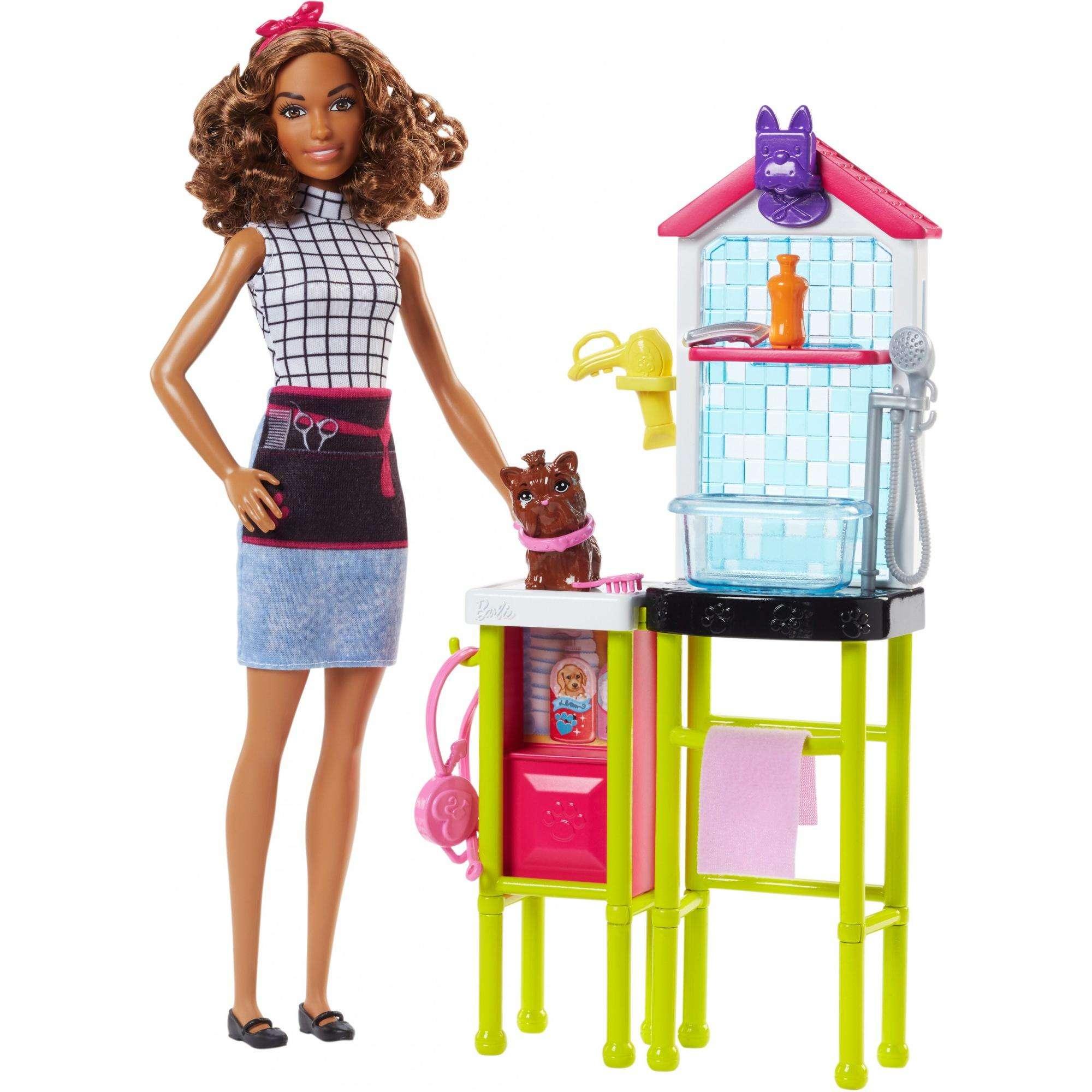 Barbie Careers Animal Pet Groomer Playset and Doll