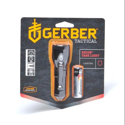 Gerber Recon Flashlight - White / Red / Blue / Green LED - Black Body  22-80016