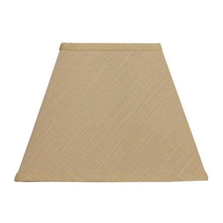 Better Homes & Gardens Tapered Square Fabric Lamp Shade, Gold