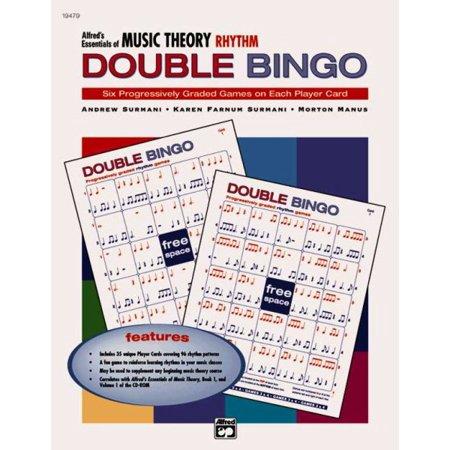 Music Listening Bingo - Alfred's Essentials of Music Theory Rhythm, Double Bingo