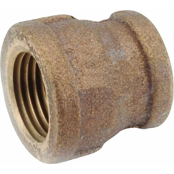 Threaded Reducing Red Brass Coupling