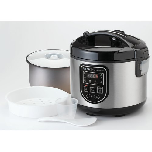 Aroma 20-Cup Professional Digital Rice Cooker, Food Steamer and Slow Cooker by