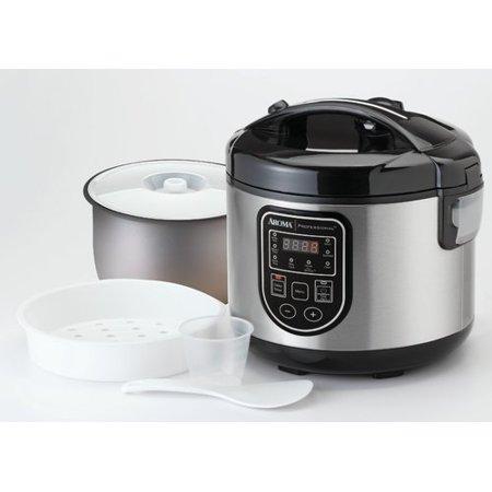aroma 20 cup professional digital rice cooker food steamer and slow cooker. Black Bedroom Furniture Sets. Home Design Ideas