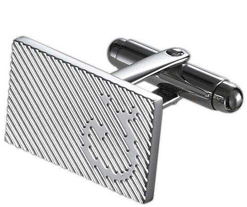 Caseti Mens Gordon Stainless Steel Cuff Links Regular Silver