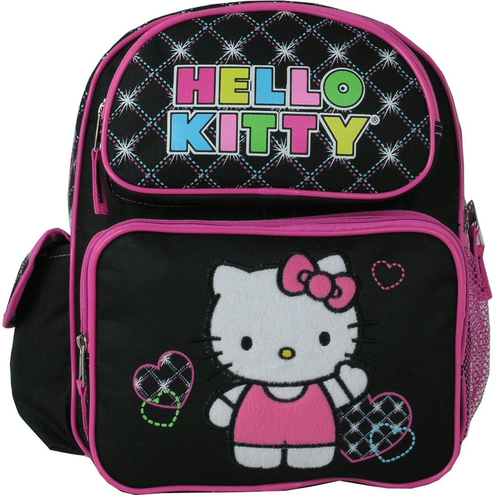 Small Backpack - Sanrio - Hello Kitty - Hearts Black New 813526