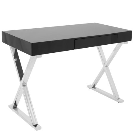 Luster contemporary desk in black by lumisource walmart luster contemporary desk in black by lumisource gumiabroncs Image collections