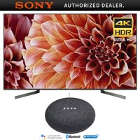 """Sony 65"""" Class 4K Ultra HD (2160P) HDR Android Smart LED TV (XBR65X900F) with Google Home Mini (Charcoal)"""