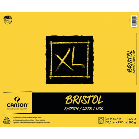 Canson XL Bristol Pad, Smooth, 14in x