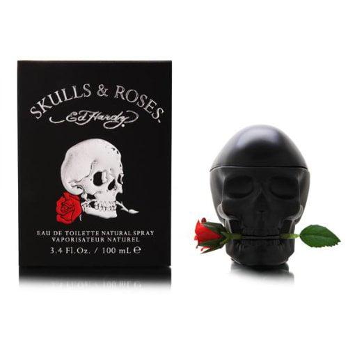 Ed Hardy Skulls & Roses Edt Spray 3.4 Oz By Christian Aud...
