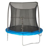 JumpKing 8-Foot Trampoline, with Safety Net Enclosure, Blue