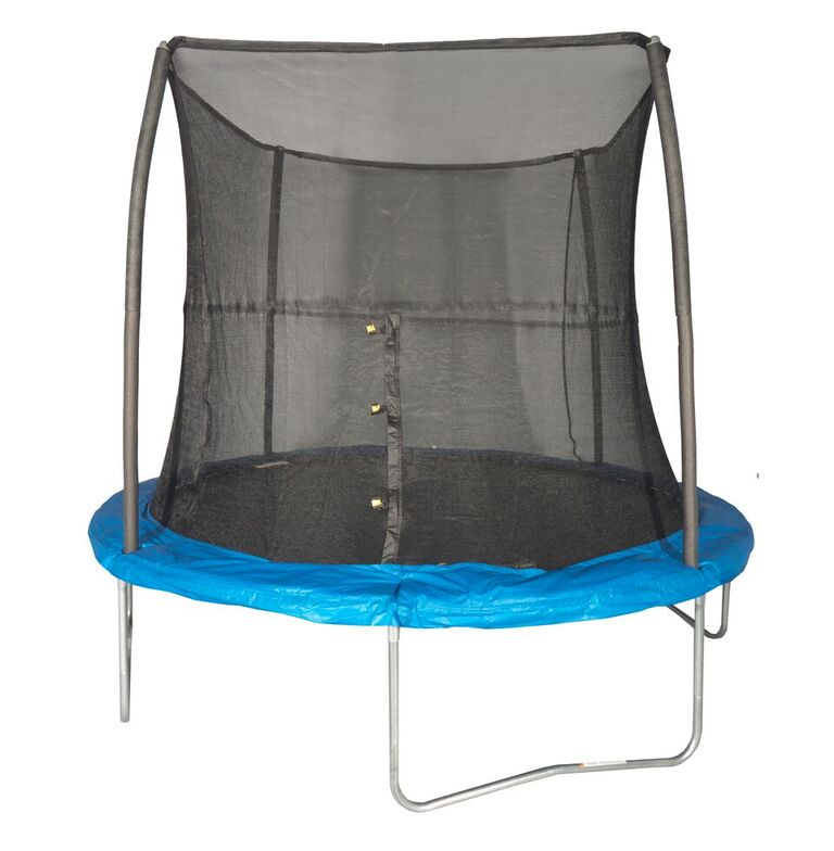 Jumpking 8 Foot Outdoor Trampoline and Safety Net Enclosu...