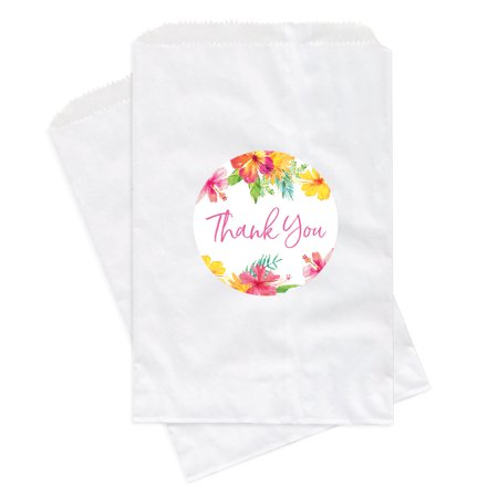 Tropical Floral Garden Party Wedding, Favor Bag DIY Party Favors Kit, Thank You!, 24-Pack