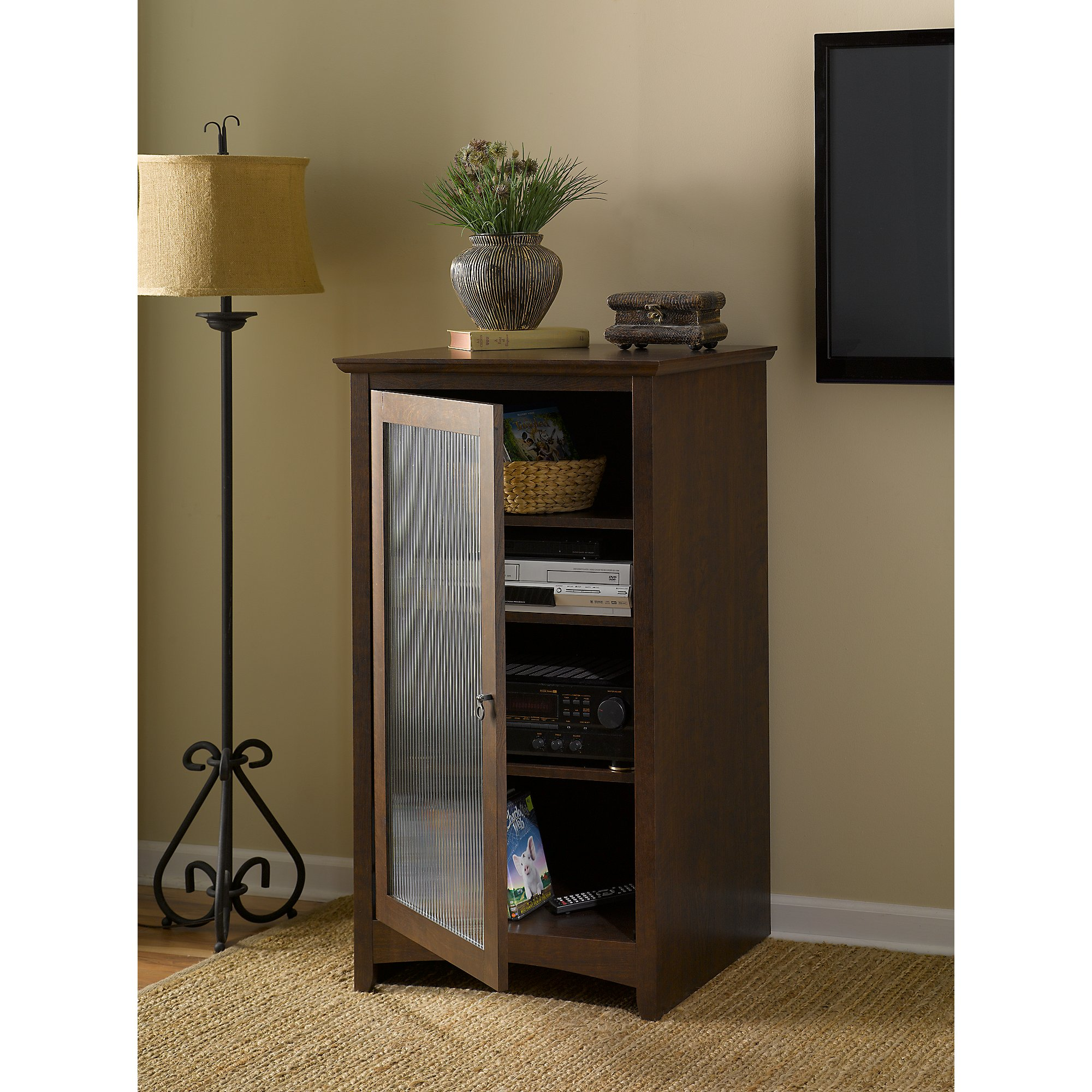 Bon Bush Furniture Buena Vista Media Cabinet In Madison Cherry