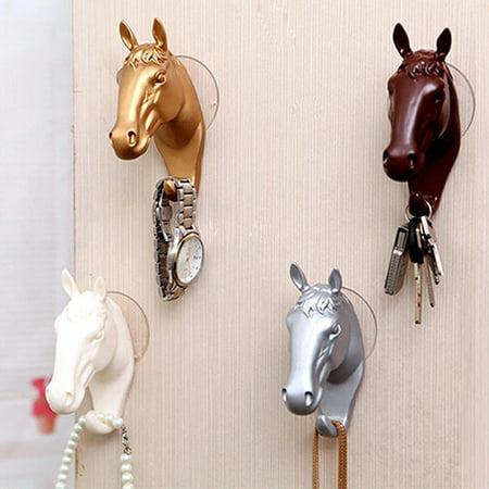 Fashion Wall Decorative Hook Horse Pattern Resin Sucker Hooks