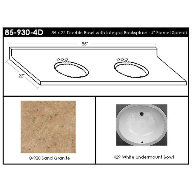 MarCraft 85-930-4D Double Bowl Vanity Top