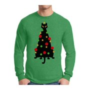 Awkward Styles Xmas Cat Ugly Christmas Sweater Long Sleeve Tshirt For Men