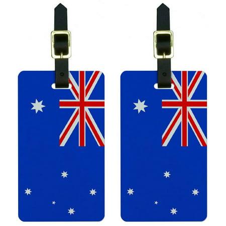 Australia Flag Luggage Tags Suitcase Carry-On ID, Set of 2