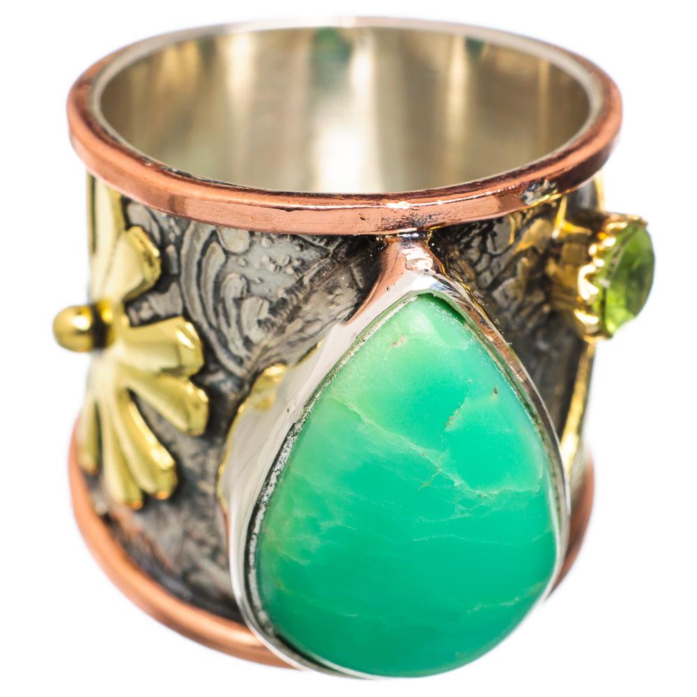 Ana Silver Co Chrysoprase, Peridot 925 Sterling Silver Ring Size 6 RING826033 by Ana Silver Co.
