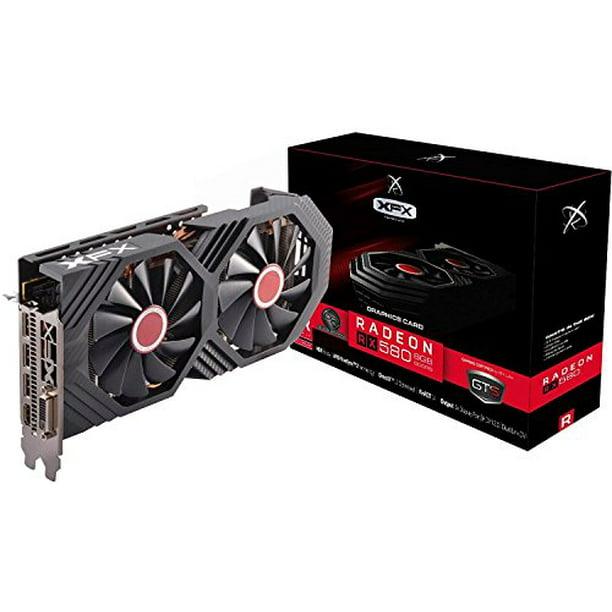 Xfx Amd Radeon Rx 580 8gb Gddr5 Pci Express 3 0 Graphics Card Black Rx 580p8dbdr Walmart Com Walmart Com