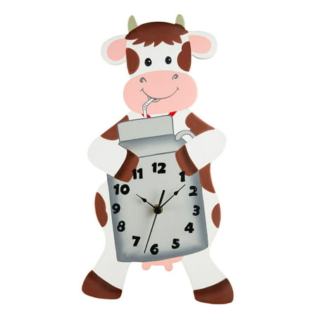 Fantasy Fields - Happy Farm Cow Wall Clock