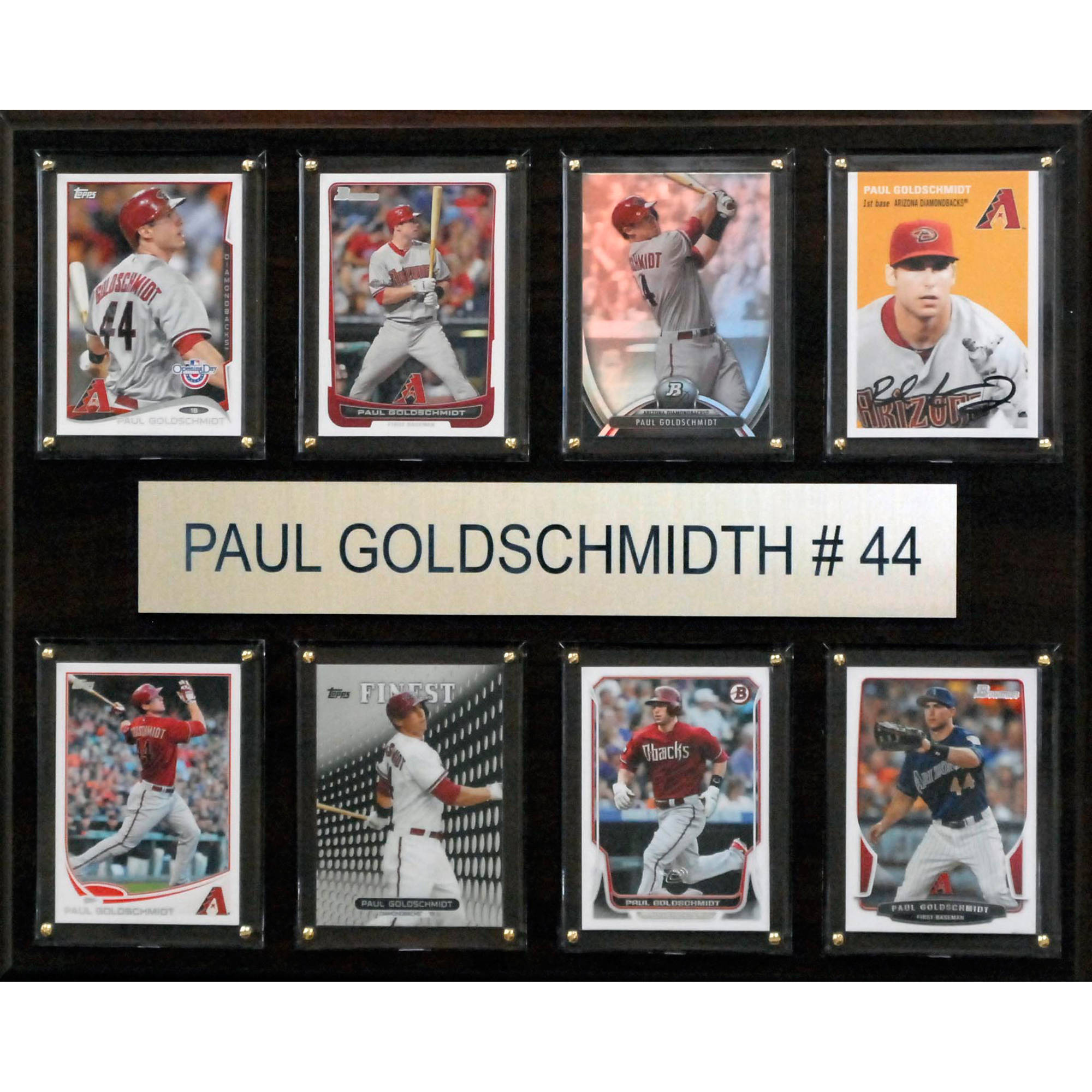 C&I Collectables MLB 12x15 Paul Goldschmidt Arizona Diamondbacks 8-Card Plaque