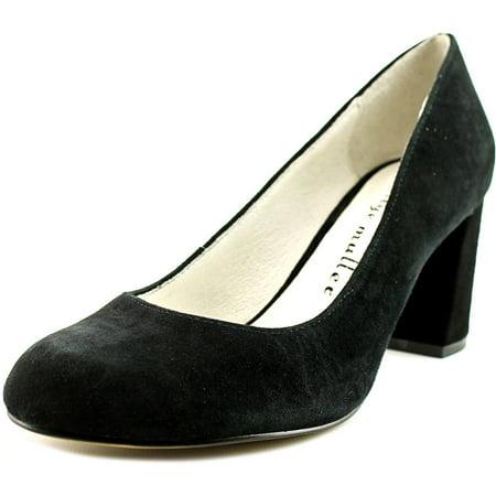 Bettye Muller Colette Women Round Toe Suede Black Heels