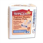 Tranquility Topliner Booster Contour Pad 3096 One Size Fits Most Case of 120, White