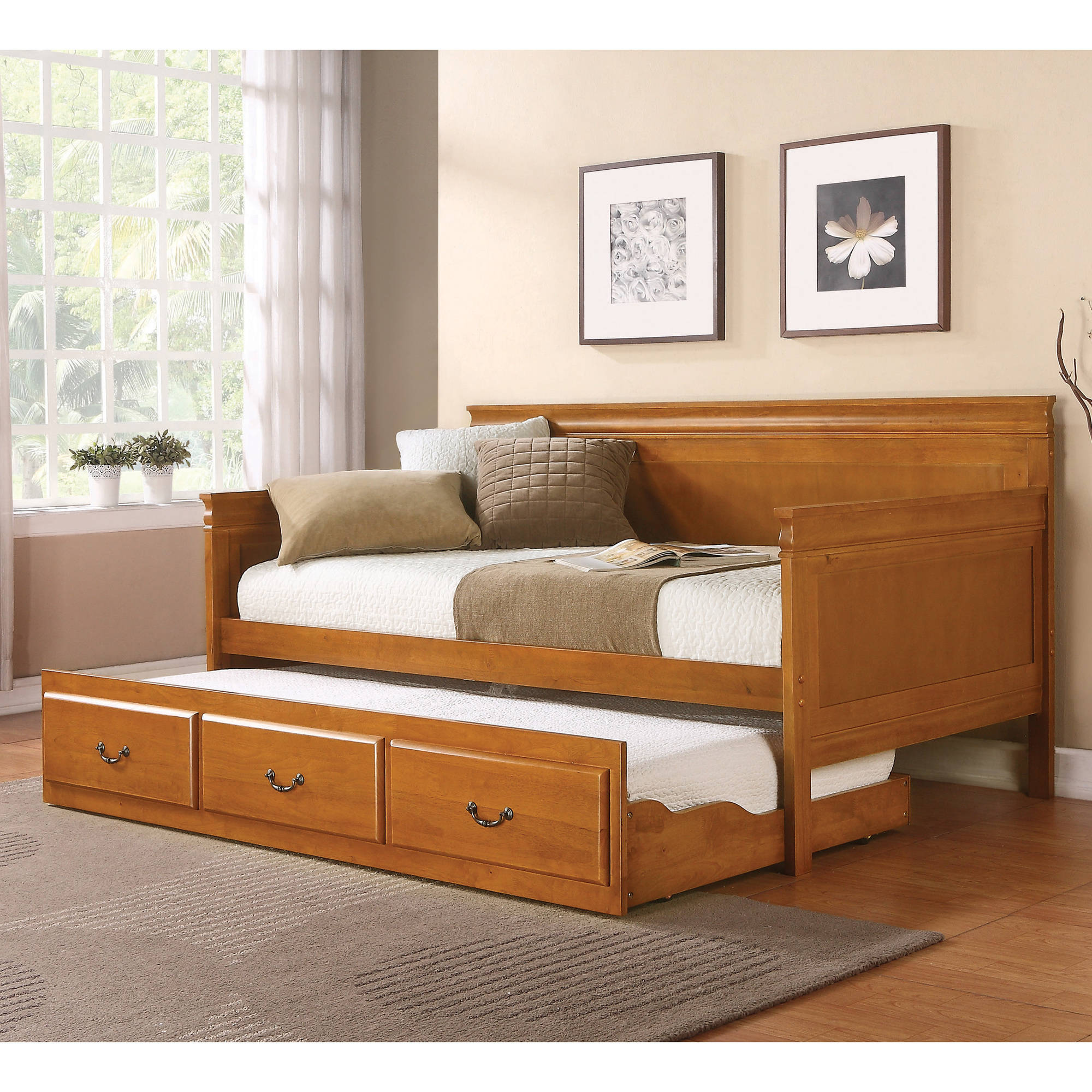 Coaster Twin Day Bed in Oak Finish (Box 1 of 3) by Coaster Company