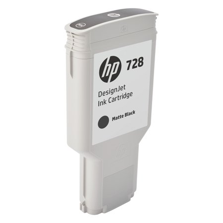HP 728 (F9J68A) Matte Black Original Ink Cartridge, 300 mL
