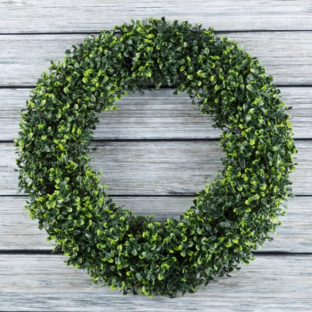 Fake Boxwood Wreath (Pure Garden 19.5